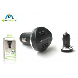Cargador coche Dual USB de Mimacro (2.4A) 31089